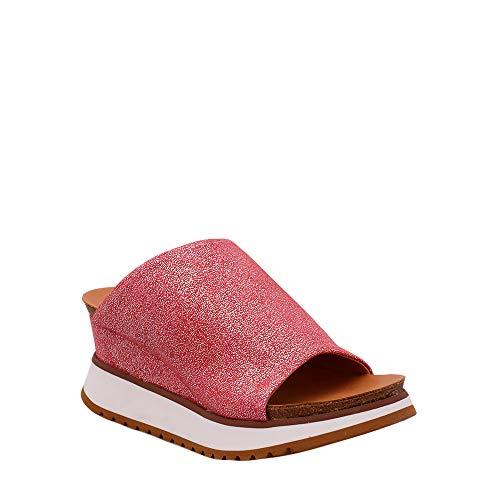 Felmini - Zapatos para Mujer - Enamorarse com Karen B707 - Zuecos con Tacones - Cuero Genuino 39 EU Size