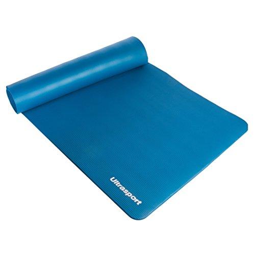 Ultrasport 331100000167 Esterilla de Fitness para El Entrenamiento, Unisex Adulto, Azul, 190 x 90 x 1.2 cm
