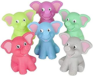 Rhode Island Novelty 2 Inch Rubber Water Squirting Elephants One Dozen