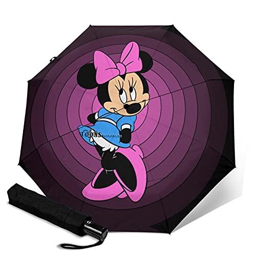 Paraguas automático de tres plegables, ligero y pequeño, doble propósito para lluvia y sol, parasol, protector solar y protección UV