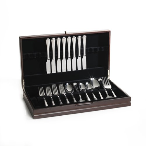 Wallace Dark Walnut Sinlge Flatware Chest, 19-Inch