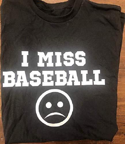I miss baseball quarantined shirt funny toddler boys coronavirus covid baseball t-shirt