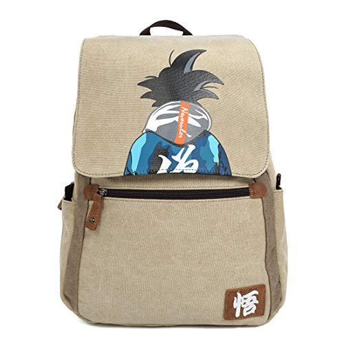 CoolChange Mochila de Lino de Dragon B con Motivo de Son Goku, Beige
