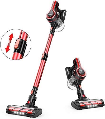 MooSoo Cordless Vacuum Cleaner, 18KPa Stick Handheld Rechargeable Vacuum...