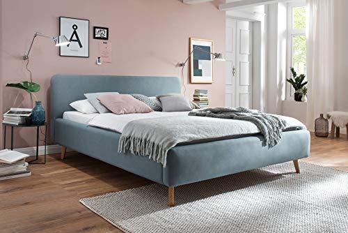 SuMa Wasserbett mit komplettem Zubehör + Polsterbett Fano Eisblau (200 x 220 cm, Ohne Beruhigung)