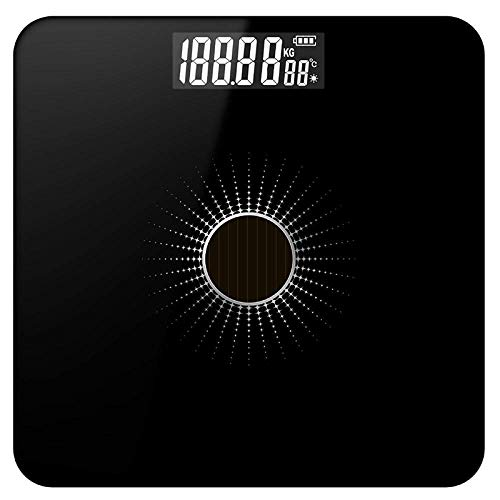 LQH Waage-Waage, Waage, Smart Electronic LED Digital Gewicht Badezimmer, 180Kg, Schwarz