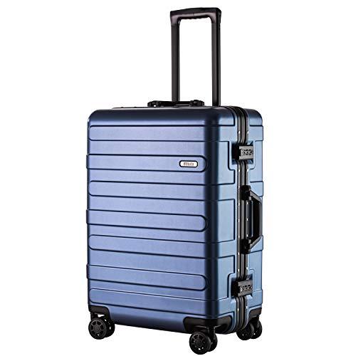 (ヴィヴィシティ)VIVIcity スーツケース アルミフレーム キャリーケース 機内持込可 大型 軽量 TSAロック 安心の1年保証 防塵カバー付き(M ブルー)