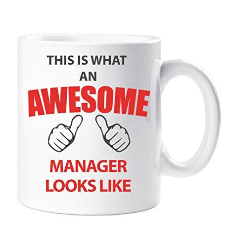 """60 Second Makeover® Tasse mit Aufschrift """"This Is What An Awesome Manager Looks Like"""", Geschenk für Geburtstag, Weihnachten"""