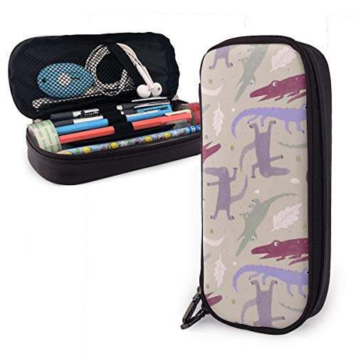 Croc Rock Pencil Case Big Capacity Pen Pouch Holder Bag Stationery Organizer Box Large Storage for School Supplies Office Stuff