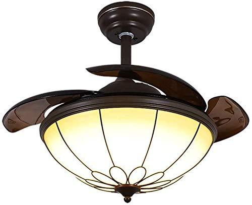 Noche Infantil LED Control Remoto Ventilador Araña Fácil de Ajustar Chandelier Chandelier Dimmable Techo Plegable Ventilador con lámpara Ventilador retráctil con Control Remoto Araña (Color : Azul)