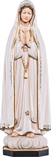 Ferrari & Arrighetti Imagen de la Virgen de Fátima en Talla de Madera Pintada a Mano Que Mide 40 cm - Demetz Deur