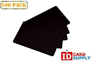 Pack of 100 Black CR80 PVC Cards | 30 mil by easyIDea
