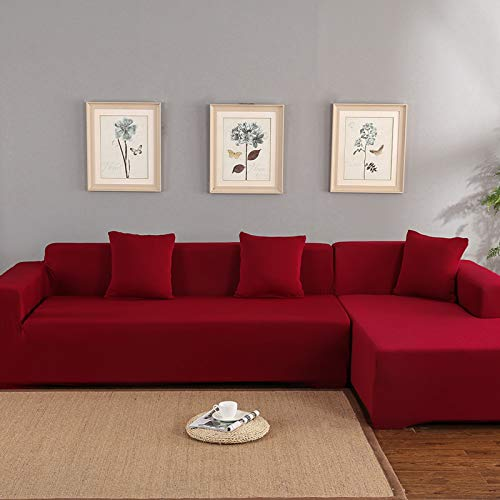 GYF Fundas de sofá Fundas de sofá Funda de poliéster para sofá esquinero de sofá en forma de L, protector de muebles de hogar, ideal para sofá de casa