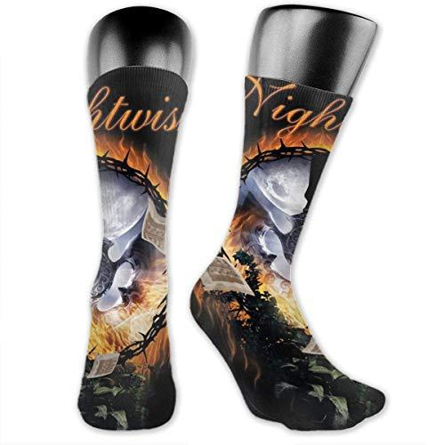 LanDu Calcetines Nightwish para hombres y mujeres. Calcetines deportivos, medias de enfermera para atletismo