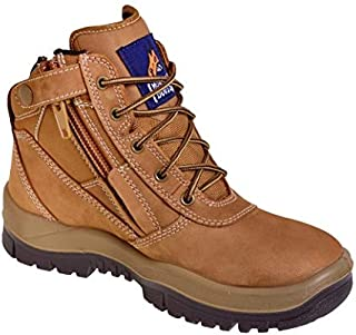 Mongrel 261070 'New Rust' Work Boots. Steel Toe Safety. Zip-Sider.