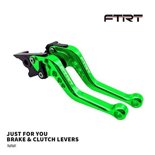 FTRT Adjustable Short Brake Clutch Levers Compatible with Kawasaki EX650 Ninja 650R ER-6F ER-6N 2009-2016/ EX400 Ninja 400R ER-4F 2011-2013/ KLE650 VERSYS 650 2009-2014: Green