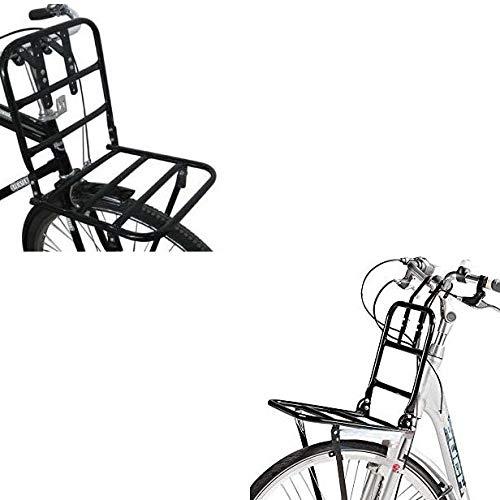 Megaprom Vorne Front Fahrradgepäckträger Fahrrad Gepäckträger Frontgepäckträger für Hollandrad in Schwarz - bis 15 kg