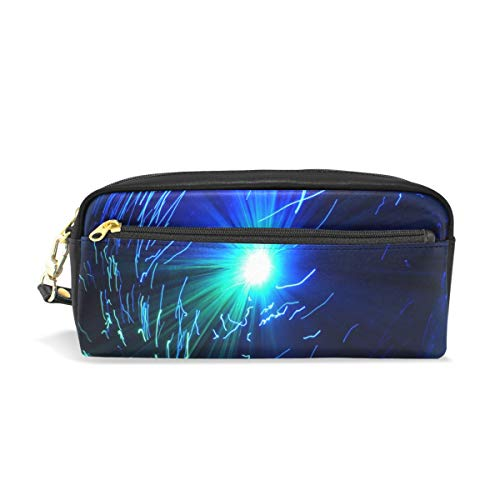 Pencil Case Stylish Print UFO Light Lighting Long Time Lighting Ufolampe Art Pattern Large Capacity Pen Bag Makeup Pouch Durable Students Stationery Two Pockets with Double Zipper