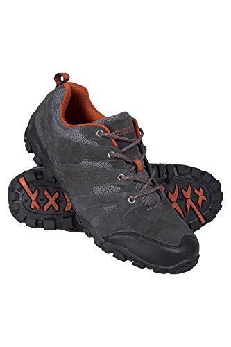 Mountain Warehouse Zapatos para Caminar al Aire Libre de Hombre - Parte Superior de Gamuza y Malla, Plantilla de EVA Acolchada, Suela de Goma - para Senderismo, Viajes Gris Oscuro 42