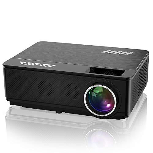 Proyector, YABER 7000 Lúmenes Proyector Cine en Casa Soporta Full HD 1080P, Corrección Electrónica Trapezoidal, Compatible con HDMI/USB/Smartphone/TV Stick/PS4, para Cine en Casa