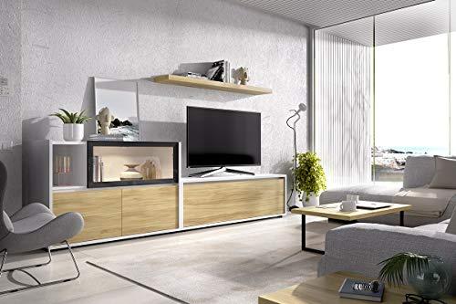 TV-wand Duo 24 - inclusief lowboard, wandboard, sideboard - benodigde ruimte: 300x45 cm