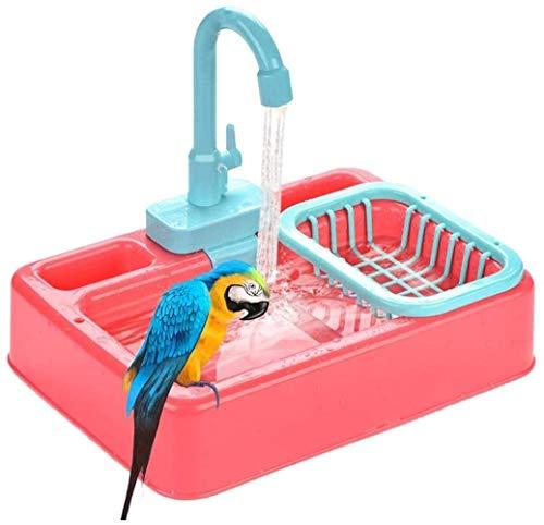 Family in Wellensittich Spielzeug,Papageien Badewanne Vogel Badewanne Schüssel Splash Großes Vogel/Chinchilla Bad, 34 25 28 cm