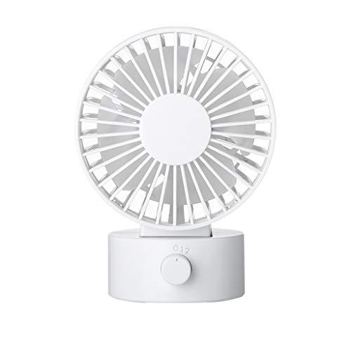 USB-ventilator, Bureauventilator Nieuwe Geruisloze Ventilator Met Verstelbare Kop, Dubbele Ventilatorbladen, 2 Snelheden, Mini-formaat Desktopventilator for Thuiskantoor Buiten Reizen (wit)