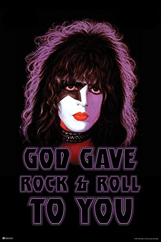 Kiss Poster Starchild Paul Stanley Solo Album God Gave Rock and Roll to You Kiss Band Merchandise Kiss Collectibles Kiss Memorabilia Heavy Metal Merch 1970s Cool Wall Decor Art Print Poster 24x36