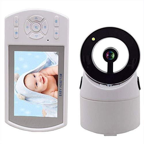 FMOGE Babyphone mit Kamera und Audio mit mobiler App 3,5-Zoll-TFT-LCD Clear Call Annke Überwachungskamera mit Temperaturerkennung und Weckalarmfunktion,überwachungskameras