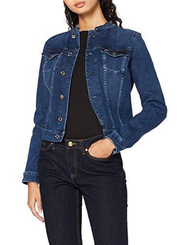 Tommy Jeans Damen Skinny Trucker Jacket Dyadk Jacke, Blau (Dynamic Avery Dk Bl Cec), 36 (Herstellergröße: Medium)