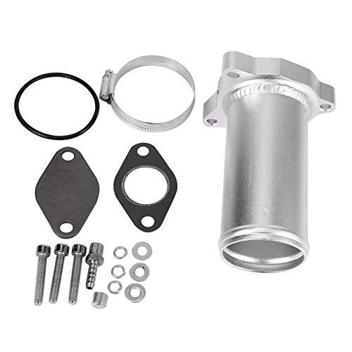 NERR YULUBAIHUO Traje de tubería de reemplazo de válvula EGR de 57 mm Ajuste para el Asiento Audi Volkswagen 1.9 TDI 130/160 BHP 2.25 Pulgadas EGR Eliminar Kits (Color : Silver)