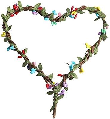 Flower Wreath Bohemian Wreath Heart Wreath Garland Forehead Headpiece - Multi