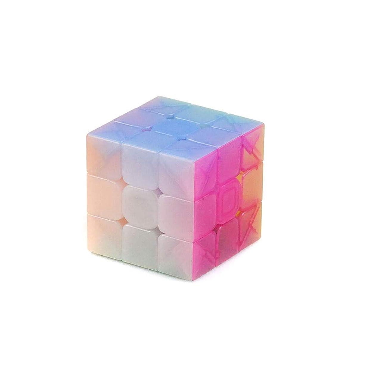 レイアステープルガウンルービックキューブ、透明スタイルのデザイン、安全で環境にやさしいデザイン、快適な使用、滑らかなデザイン (Edition : Eight sets)