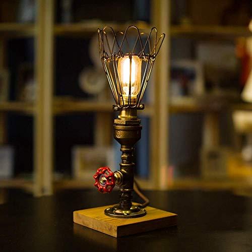 LHQ-HQ Estilo Industrial lámpara de Escritorio Retro de la Tabla Creativa decoración de la lámpara del Tubo de Agua lámpara de Escritorio Regulable