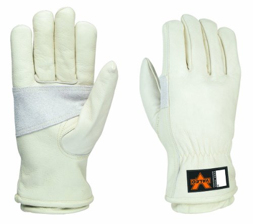 Valeo V620 Heavy Duty, Kevlar Lined, Leather Work Gloves for Men and Women. Construction, General Purpose, Driver, Rigger, Safety, and Gardening Gloves VI4888, Pair, White, Large