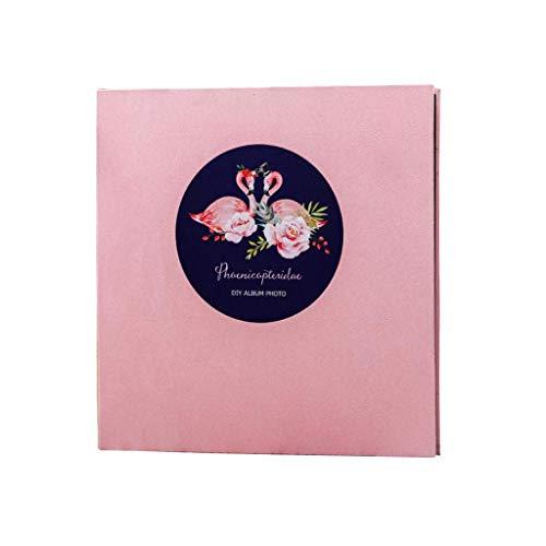 KTDT Das große Fotoalbum im selbstklebenden Stil bietet Platz für eine Vielzahl von Bildern, 20 Blatt / 40 Seiten, Familienreise-Speicherbuch 35,5 x 33 x 3 cm (Farbe: Flamingo)