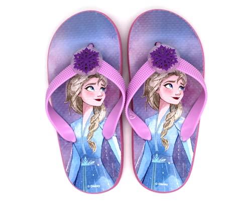 Disney Frozen 2 Sandales Classiques pour Filles, Tongs, Sandales Légères de Vacances Plage Piscine Jardin, Chaussures D'été, Conception Lumineuse, Cadeau pour Filles, Taille EU 24 à 31 (Numeric_24)
