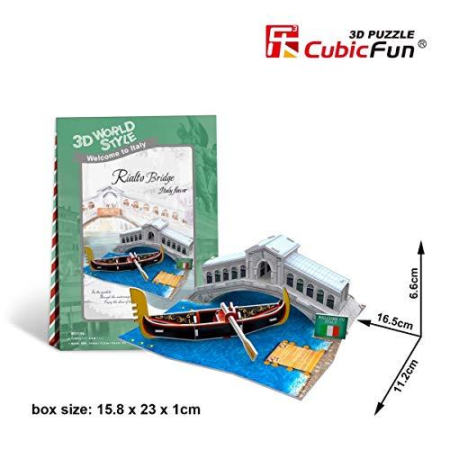 """CubicFun 3D-Puzzle aus der World Style Serie, """"Italy Flavor"""", Motiv:Rialtobrücke"""