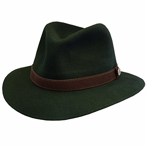 Borsalino Marco Casual Crusher Hat-Forest-56