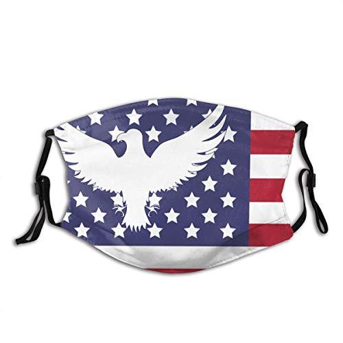 Windproof Scarf,Abstrakte Amerikanische Flagge Abstrakter Adler Komfortabler Nasenschutz Für Skateboard-Scooting,20x15cm