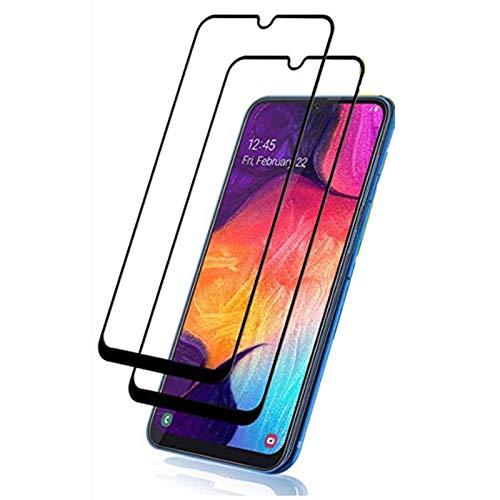 Displayschutzfolie für Samsung Galaxy A50, gehärtetes Glas, Kratzfest, volle Abdeckung, Displayschutzfolie für Galaxy A50, 2 Stück