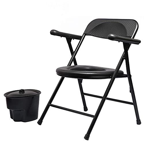 N&O Renovierungshaus Medizinische Nachtkommoden Klappbarer Leichter Toilettenstuhl Gepolsterter Sitz Nachttoilette für Mobilität und Komfort Hygienische Badezimmerhilfe