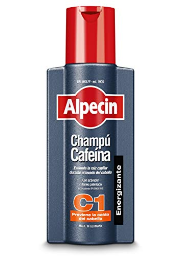 Alpecin Coffein-Shampoo C1 – Stimulierendes Haarshampoo gegen erblich bedingten Haarausfall zur Verbesserung des Haarwachstums bei Männern – 1 x 250 ml