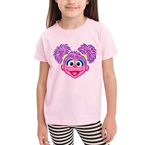 Xuekai Boys' Girls Abby Cadabby Face T-Shirts Little Kids Toddlers Cotton Top Tee Shirts Pink 5T