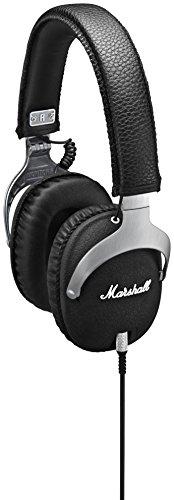 Marshall Monitor Steel - Auriculares de Diadema Cerrados (3.5 mm, 10Hz-20kHz, 42Ω), Color Negro