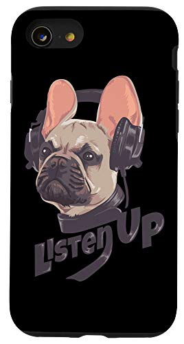 iPhone SE (2020) / 7 / 8 Listen Up French Bulldog Frenchie With Headphones Case