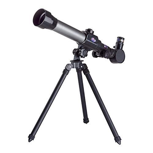 IQCrew by AmScope Mini Kids Telescope w/Tripod, 15X-150X Magnification, Compact Tabletop Starter Telescope for Kids