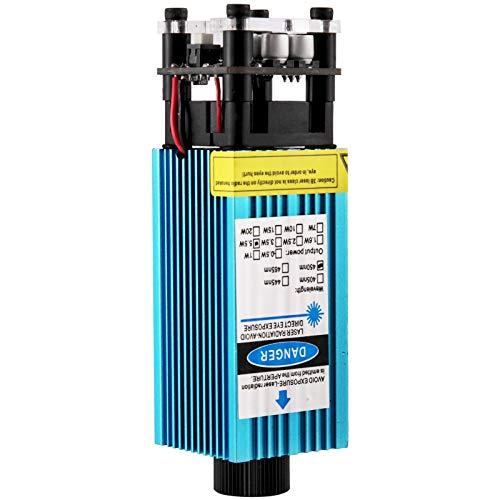 VEVOR Modulo di Laser per Incisione 15W, Testa Laser CNC Tensione 12V, Lunghezza d'Onda 450nm, Laser Modulo Testa per Incisione Materiale Alluminio 0,41 kg per Incisione, Taglio, Incisione e Foratura