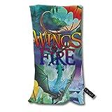 ZDmood Toallas de baño Wings of Fire Toalla de baño pequeña súper Absorbente Ultra Suave Toallas de Mano 30 * 70cm