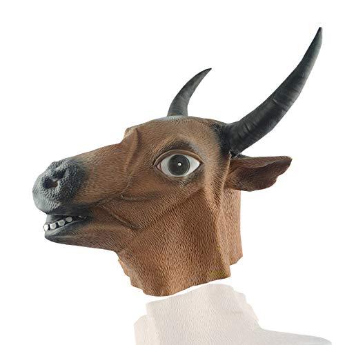 NA Gel Nail Cabeza de Toro de Halloween Festival del Fantasma Máscara del Diablo Horror Cabeza de Toro Cabeza de Caballo Cabeza de látex Set Cabeza de Toro Máscara de Cabeza de Caballo,C